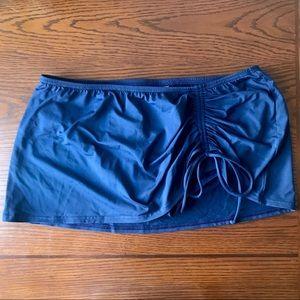 Lands End Navy Blue Adjustable Swim Skirt, 14